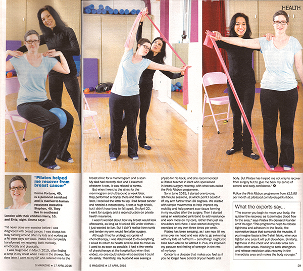 pilates for recovery from breast cancer