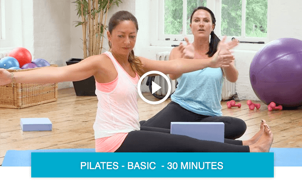 Pilates workout with online