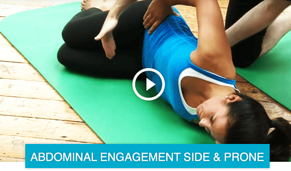 Pilates abdominal engagement side lying and prone